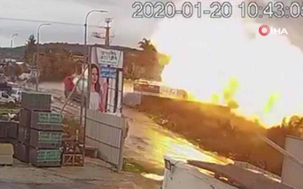 İsrail'de fabrikada feci patlama kamerada