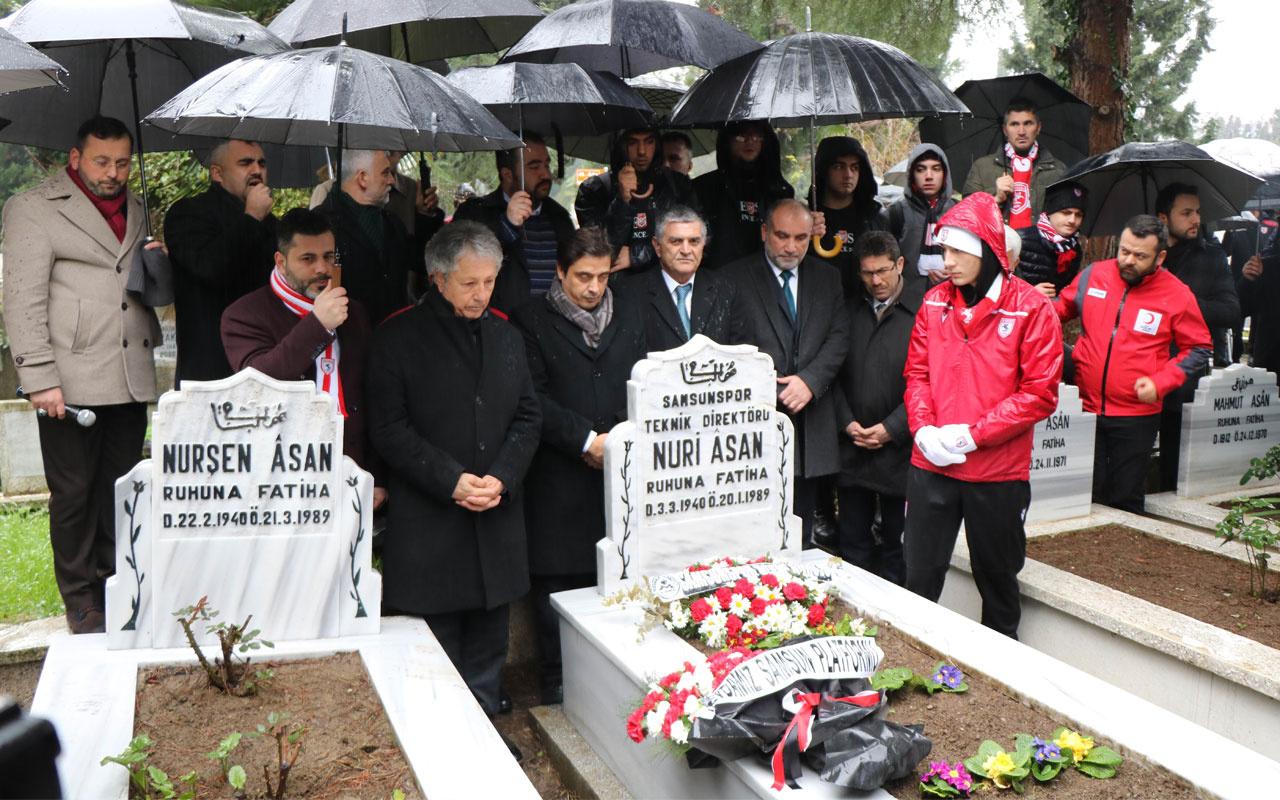 Samsunspor'dan 31 yıl önceki kazada ölenler için anma töreni