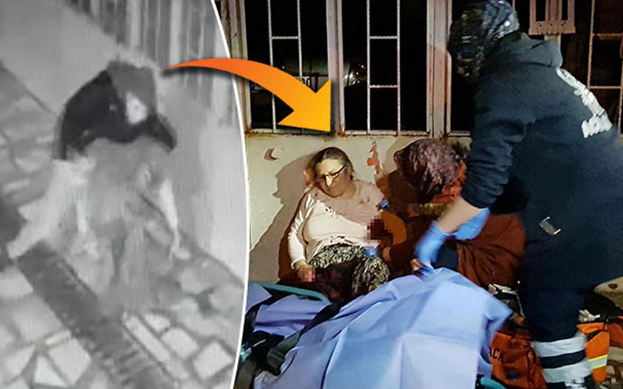 Kan donduran görüntüler Manisa'dan! Sokak ortasında annesini acımasızca bıçakladı
