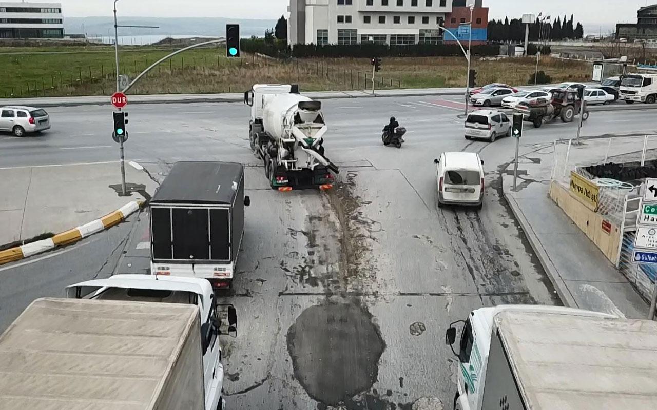 Beton mikserlerinden yollara beton tepeceği
