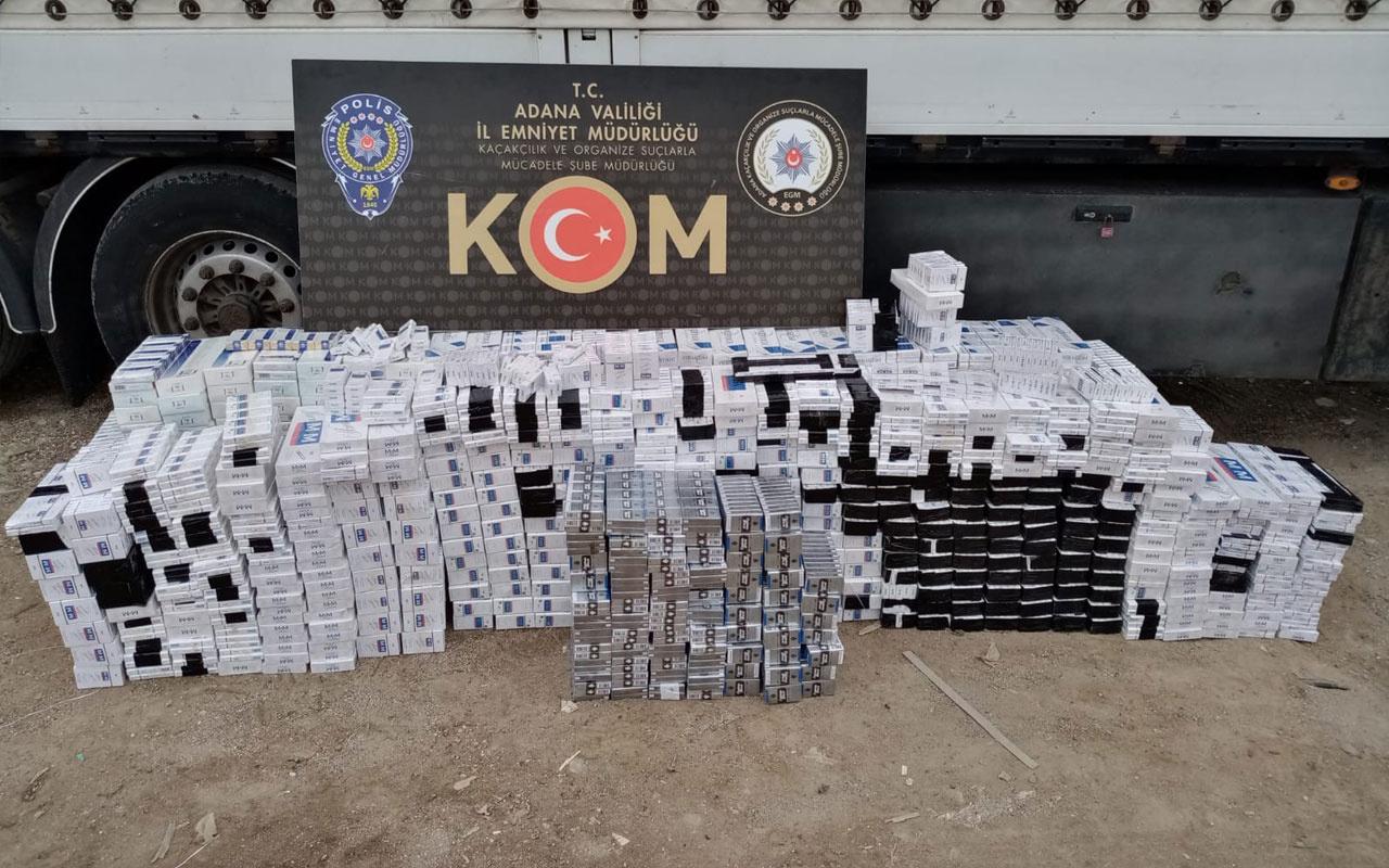 Tırdan 9 bin kaçak sigara çıktı!