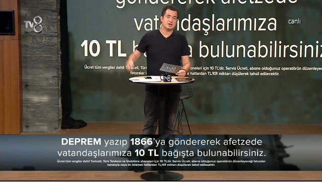 Acun Ilıcalı'nın TV8'deki yardım kampanyasına ünlü isimlerden gelen bağışlar