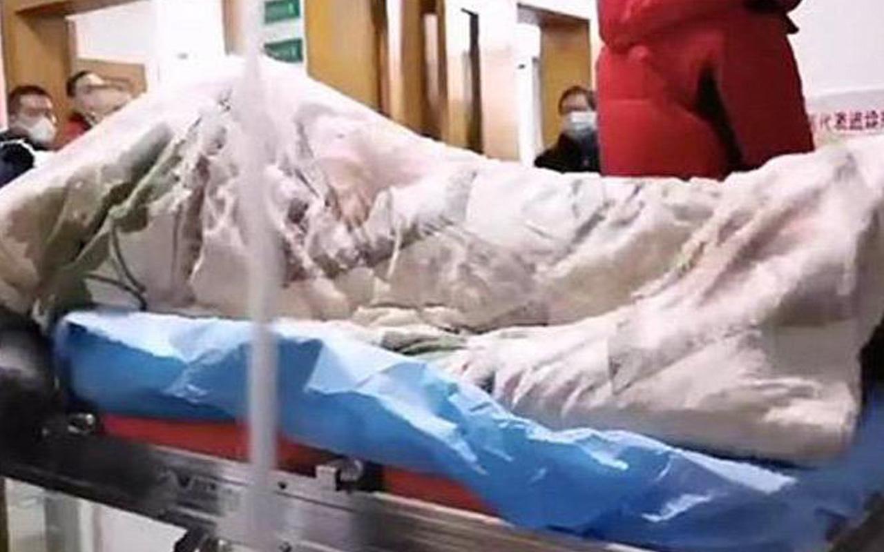 Çin coronavirüsünün dehşete düşüren görüntüsü! Hastanede çekildi
