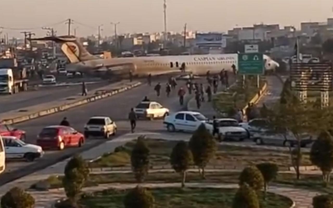 İran'da yolcu uçağı iniş sırasında pistten çıktı