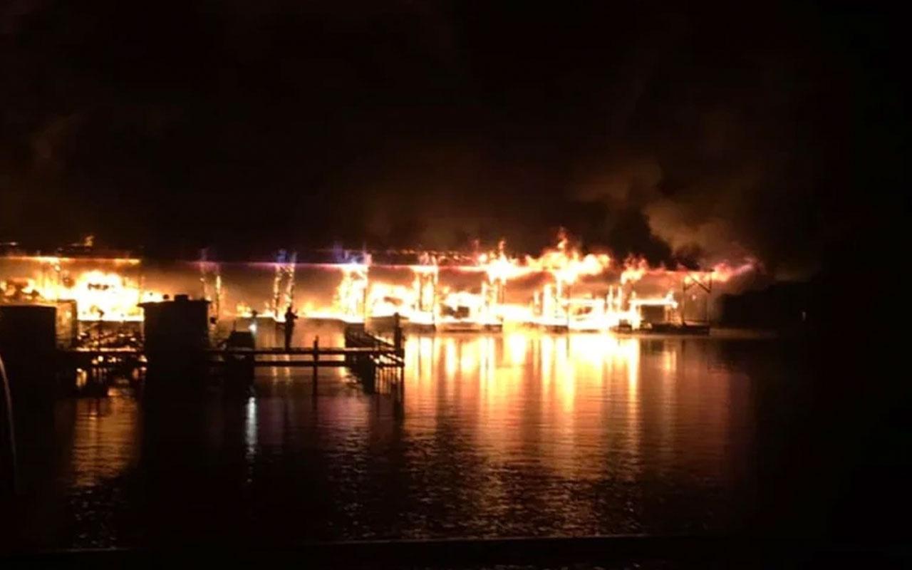 ABD'de marinada yangın: 8 ölü 6 yaralı