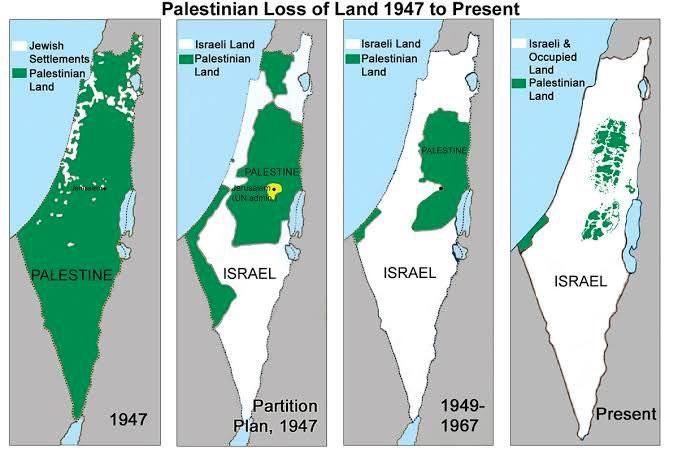 İsrail ve Filistin haritası yayınlandı! ABD'nin tek taraflı Kudüs  anlaşmasına tepki yağıyor - Internet Haber