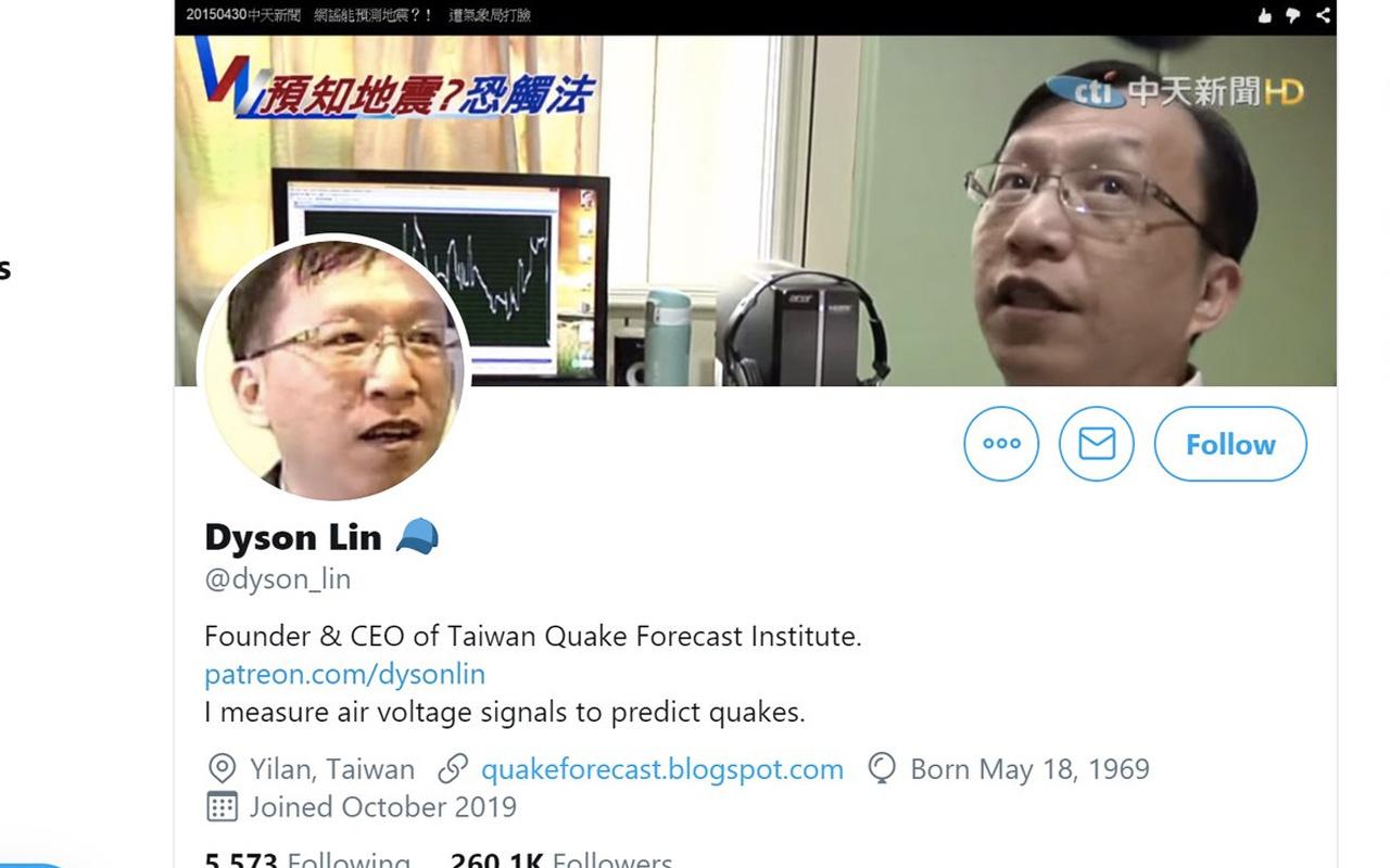 Dyson Lin twitter'dan yazdı deprem kahinimi Dyson Lin kimdir? - Internet  Haber