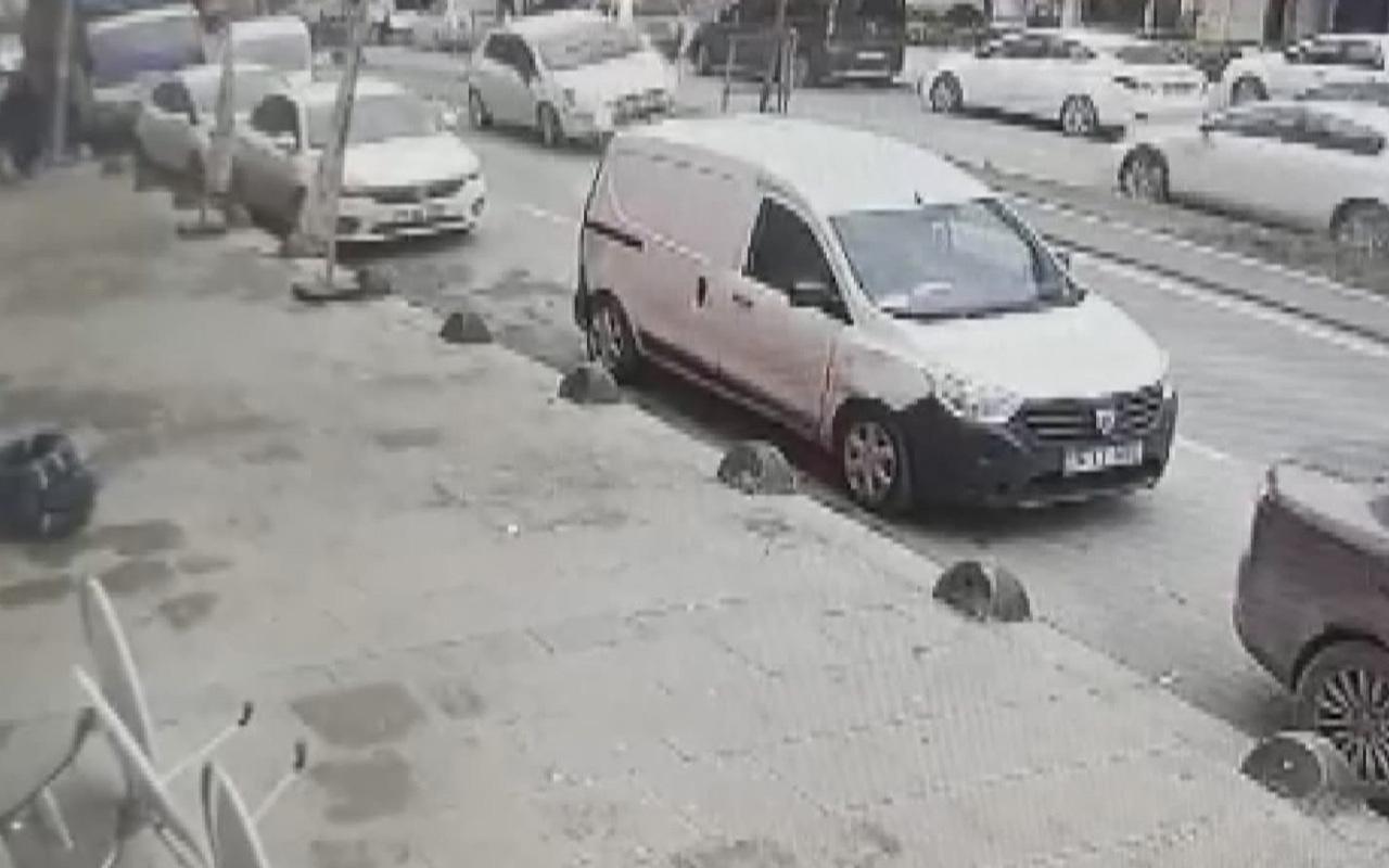 Arnavutköy'de kaza anı kamerada