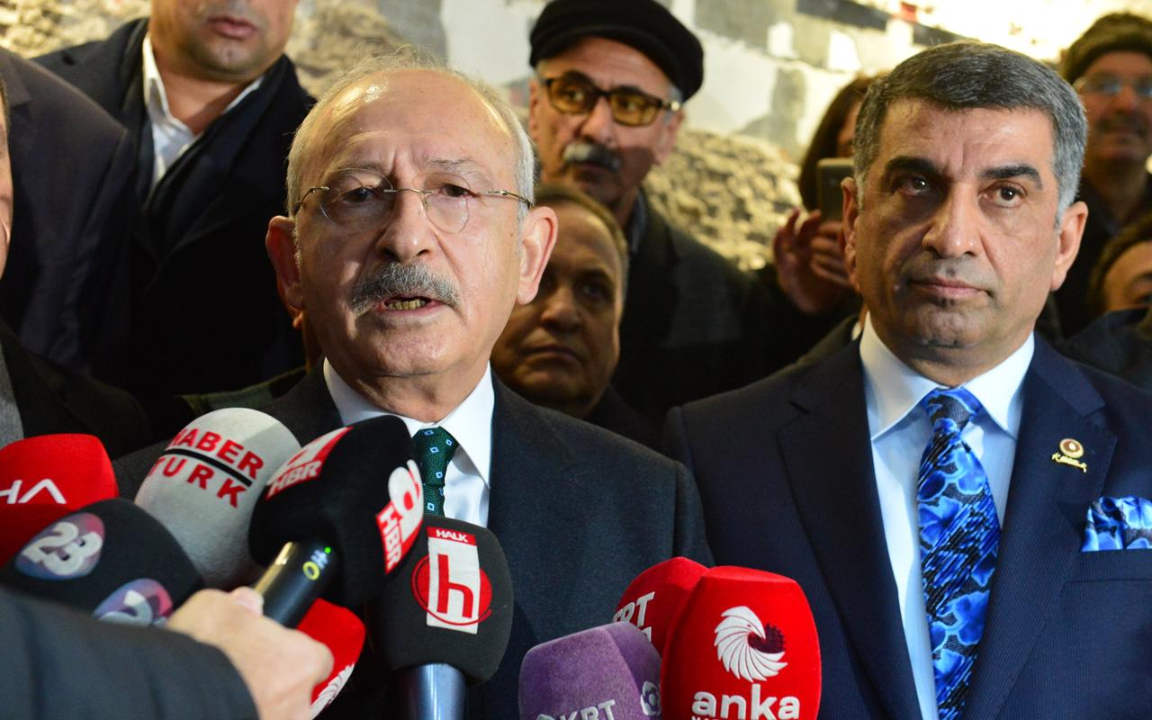 Kemal Kılıçdaroğlu Elazığ'da açıklama yaparken depreme yakalandı