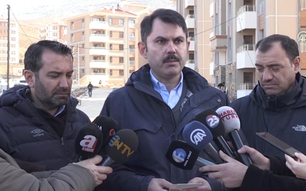 Murat Kurum Elazığ depremiyle ilgili son bilgileri paylaştı! 323 bina yıkılacak