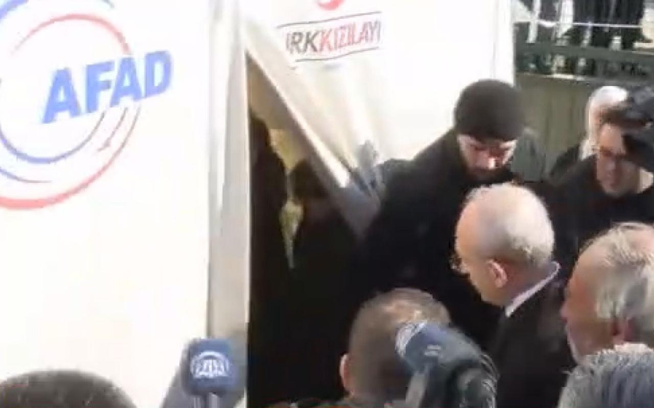 Kemal Kılıçdaroğlu içine girdiği Kızılay çadırını da görememiş