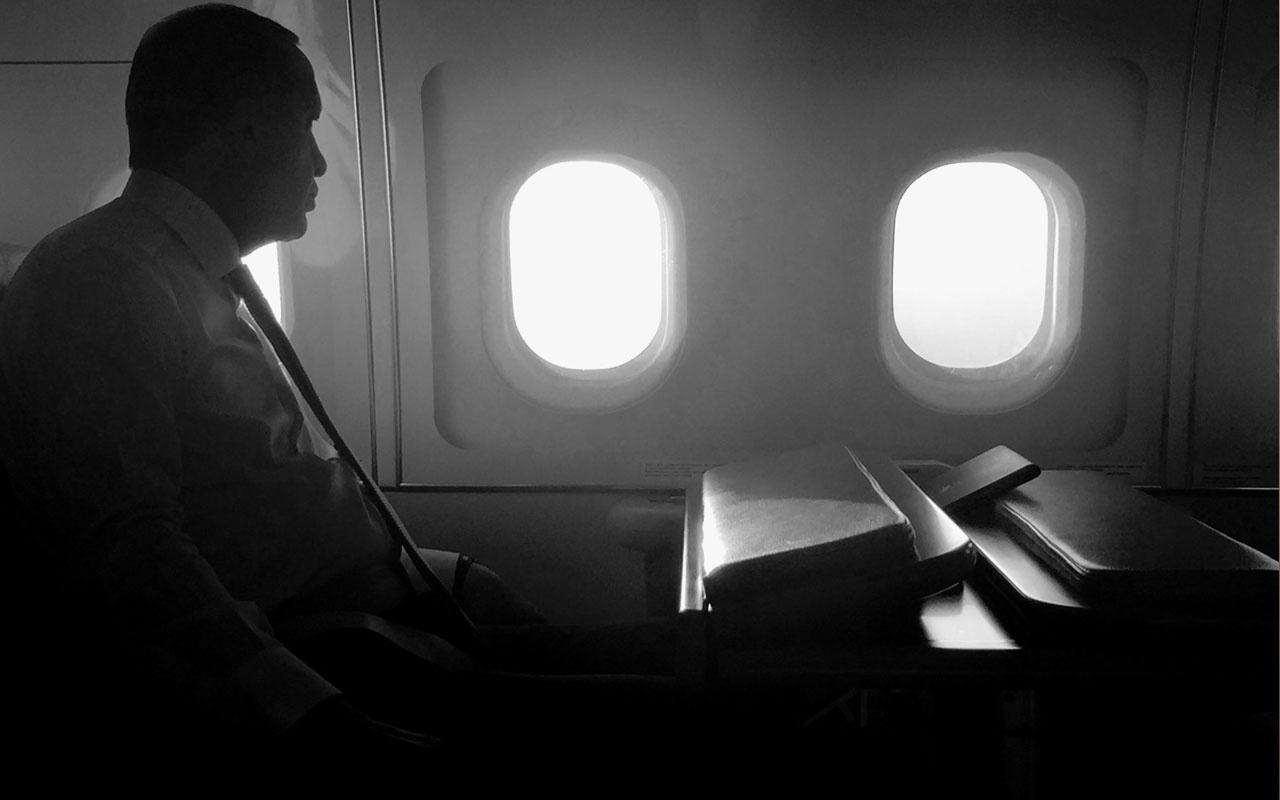 İbrahim Kalın uçakta Erdoğan'ın kendi çektiği fotoğrafını paylaştı dikkat çeken not