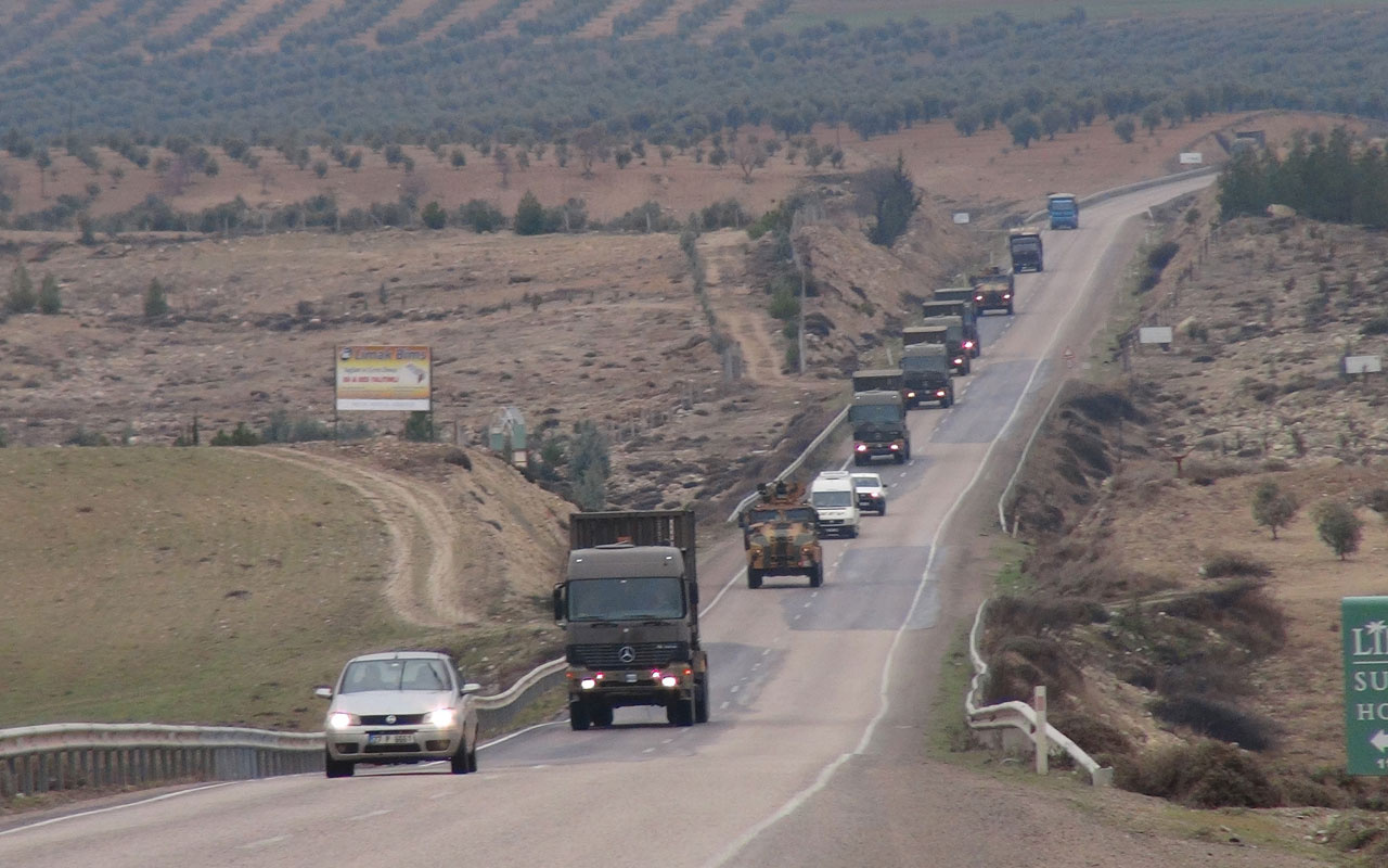 Erdoğan Suriye'ye süre verdi İdlib sınırına askeri sevkiyat görüntülendi
