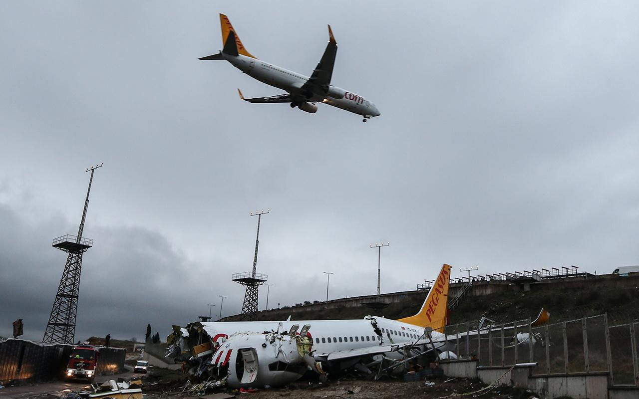 Görgü tanığı, Pegasus Hava Yolları'na ait uçağın düşme anını anlattı