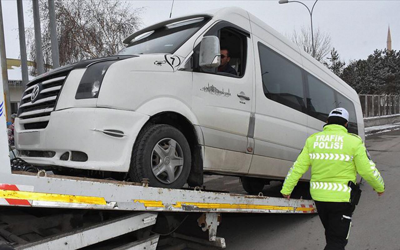 Türkiye genelinde 329 okul servis aracı trafikten men edildi