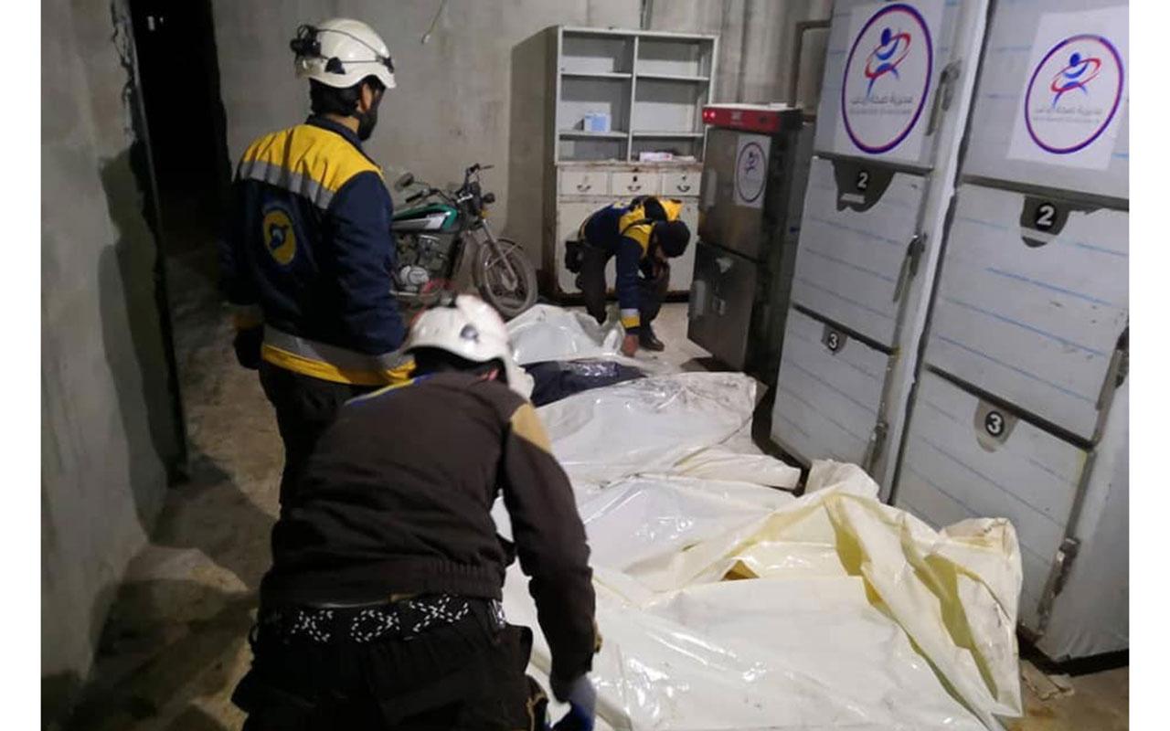 Esed rejimi İdlib'te sivillere bomba yağdırdı 15 ölü
