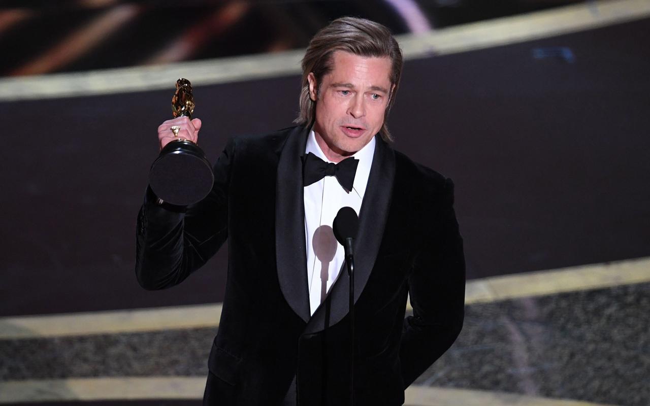 Brad Pitt Oscar Ödülü'nü aldı! Donald Trump'a yaptığı gönderme olay oldu!