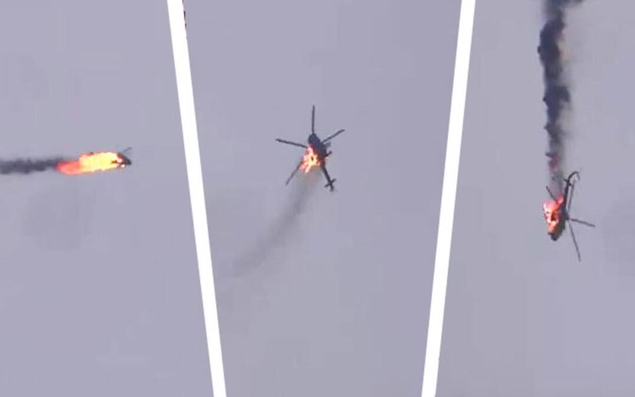 İdlib'de düşürülen helikopter! Pilotun, Kasım Süleymani ile fotoğrafı ortaya çıktı
