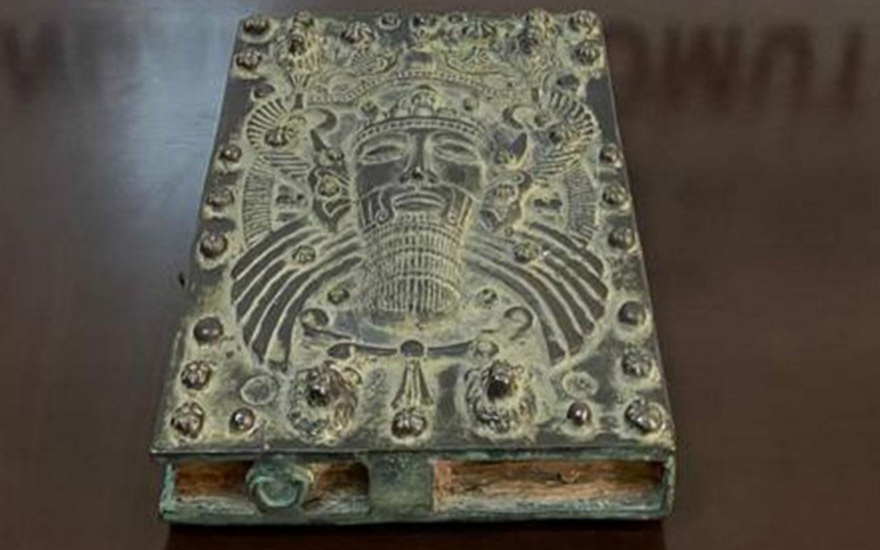 Mersin'de tam 4 bin yıllık büyük kitabı ele geçirildi