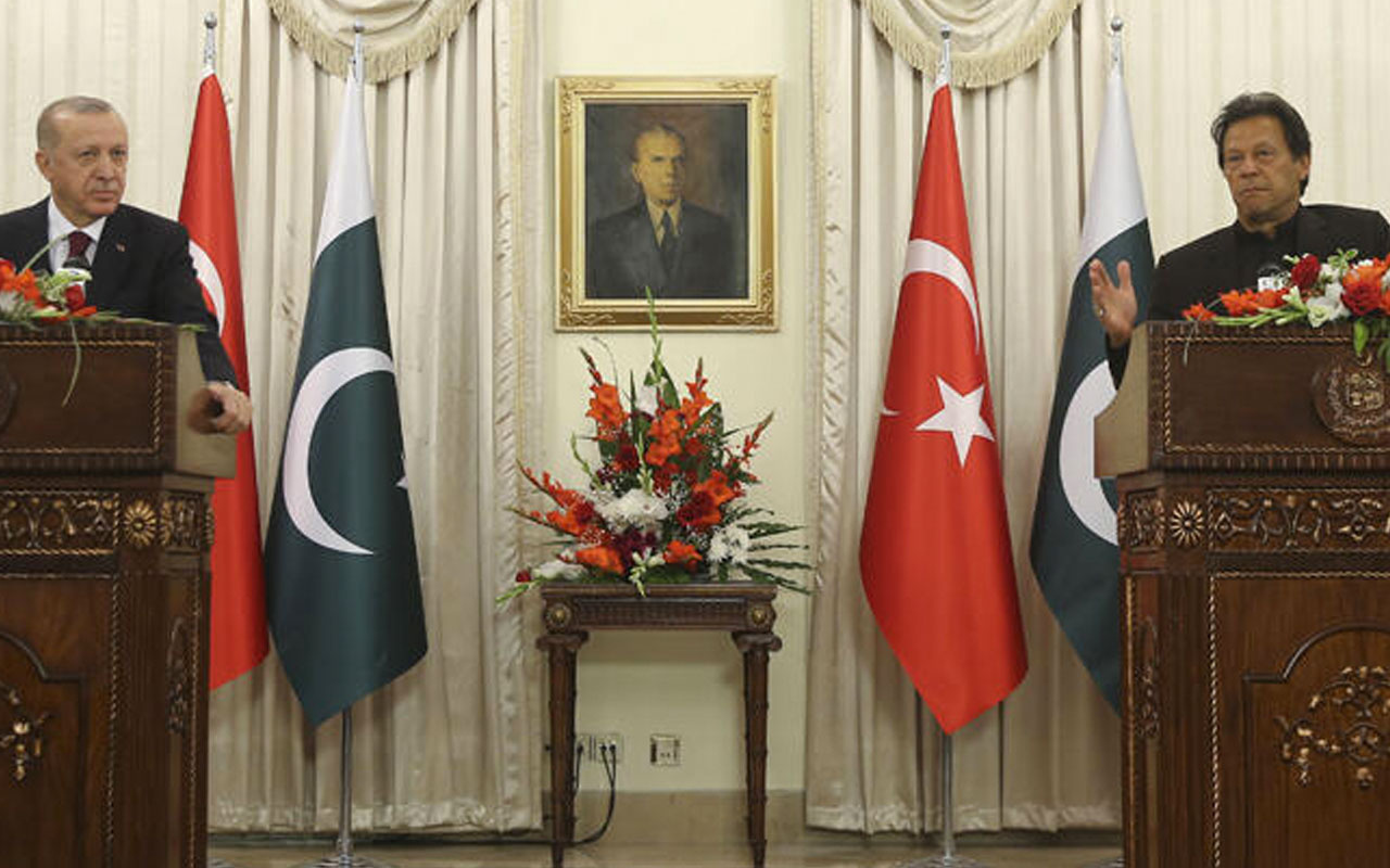 Cumhurbaşkanı Erdoğan ve Başbakan İmran Han'dan ortak basın açıklaması