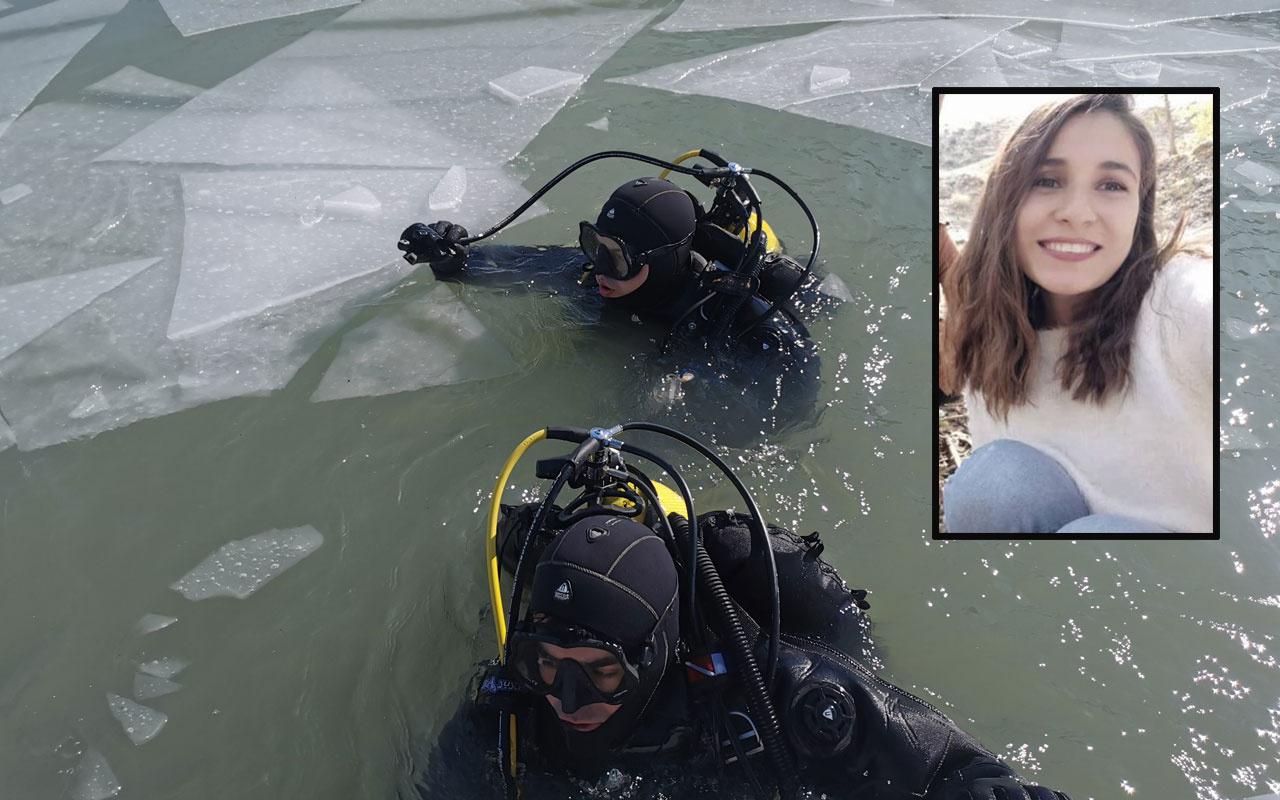 Kayıp Gülistan Doku'yu buz tutan baraj gölünde aradılar