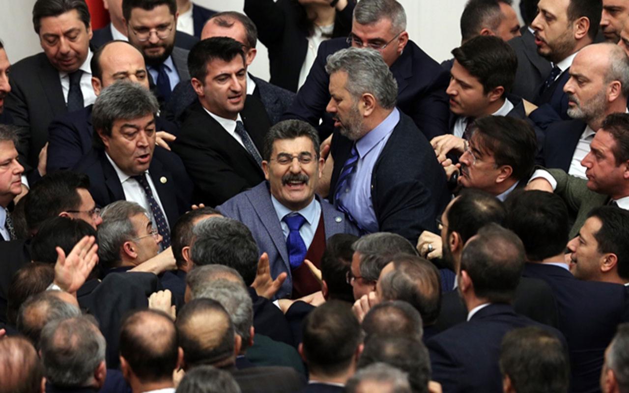Meclis fena karıştı AK Parti ve İYİ Partililer birbirine girdi