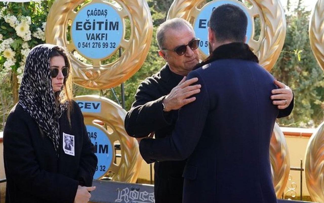 Arda Turan, Fatih Terim ile kayınvalidesinin cenazesinde bir araya geldi