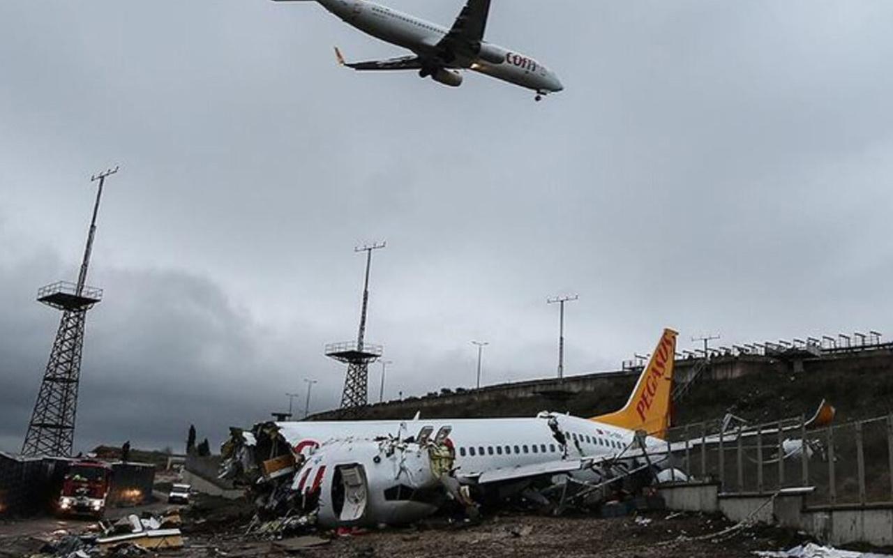 Sabiha Gökçen'de kaza yapan uçak! Pilotun hastanede ifadesi alındı