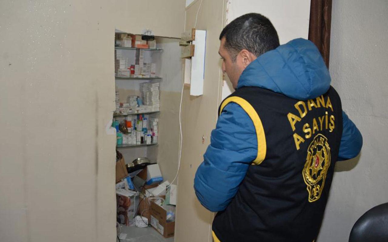 Adana'da gizli bölmeli kaçak hastaneye baskın doktorlar da sahte çıktı