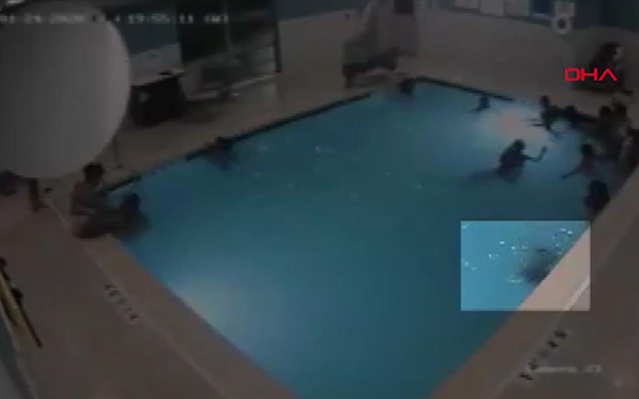 ABD'de havuzda yüzen çocuk boğulmaktan son anda kurtuldu!