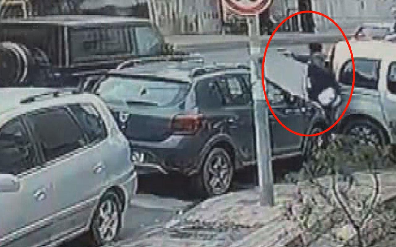 İstanbul'da lüks cipe silahlı saldırı kameralara yakalandı
