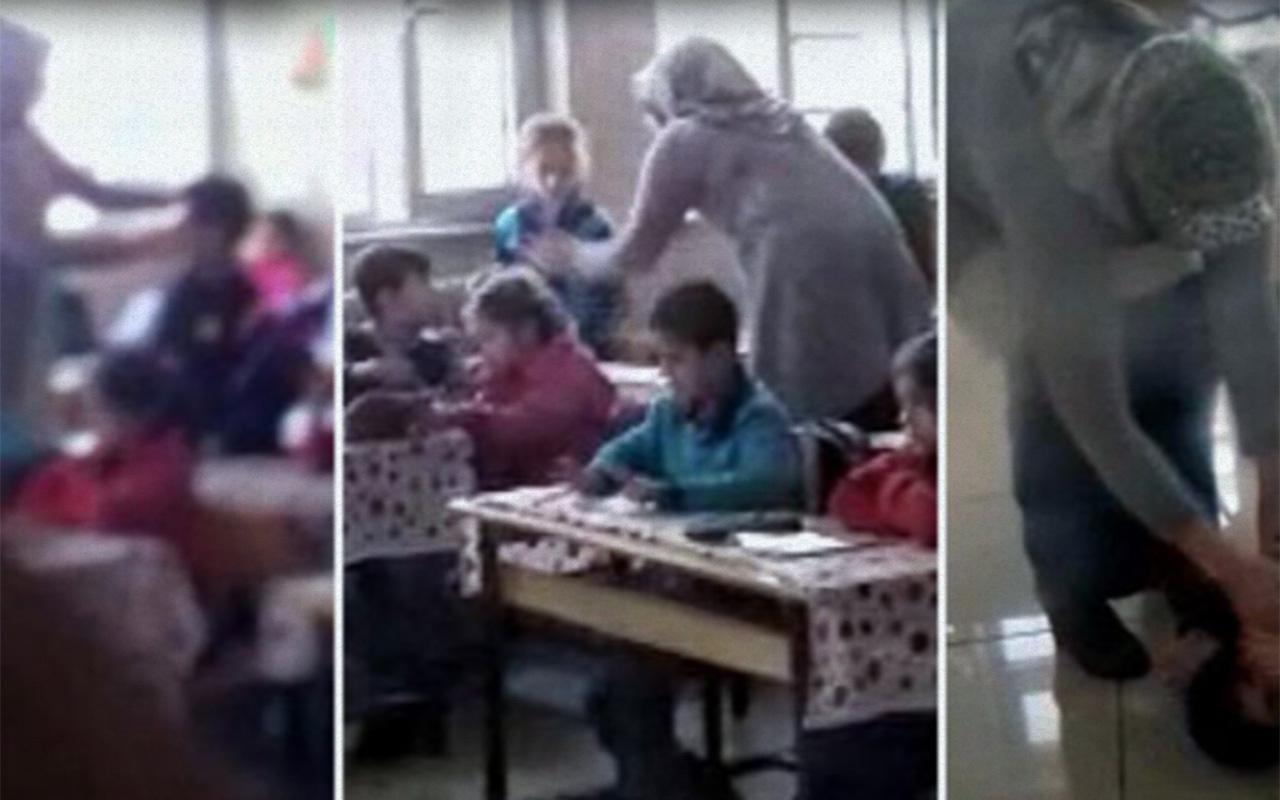 Gaziantep'te ilkokulda skandal görüntüler
