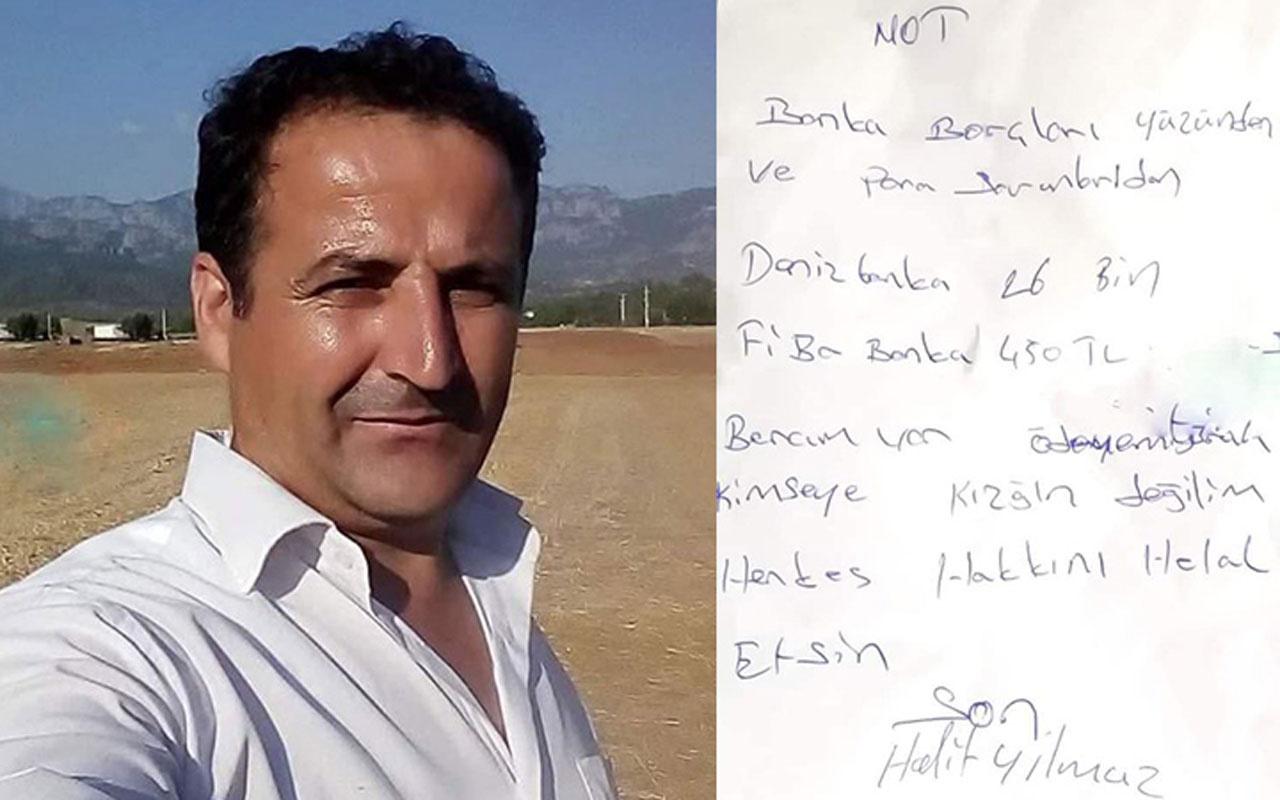 Antalya'da bir baba bankaya borcum var notu bırakıp intihar etti