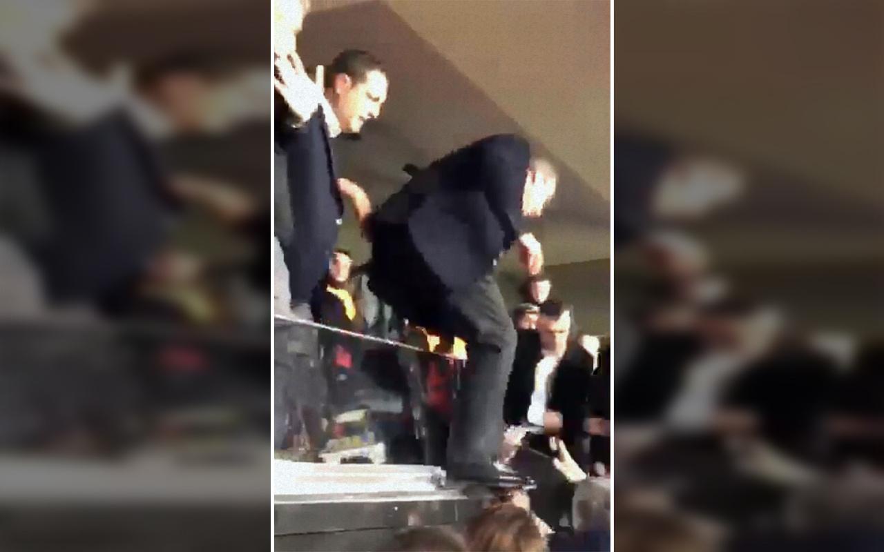 Derbi hezimeti sonrası Fenerbahçe Başkanı Ali Koç taraftarların arasına daldı