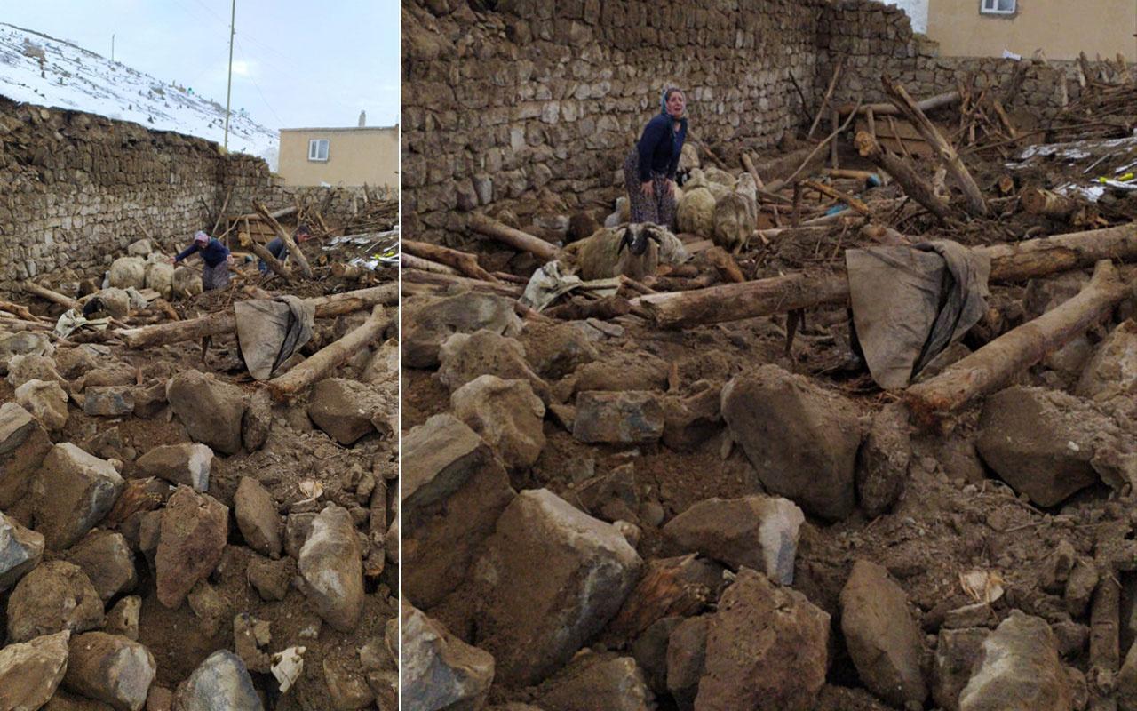 Van'daki depremden çok acı kareler! Evler yıkıldı çok sayıda ölü var