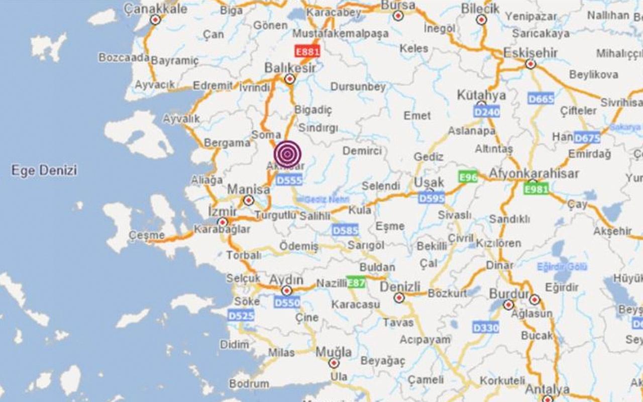 Son deprem Manisa Akhisar'da oldu deprem çevre illerde hissedildi