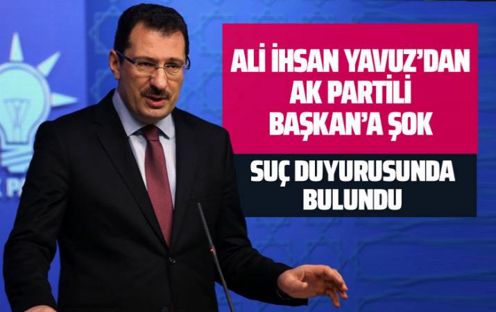 Ali İhsan Yavuz'dan AK Partili eski Sinanoğlu Belediye Başkanı'na suç duyurusu