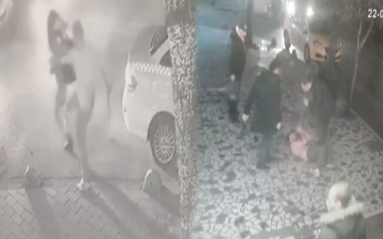 Fatih'te kadına saldıran kişiye meydan dayağı kamerada
