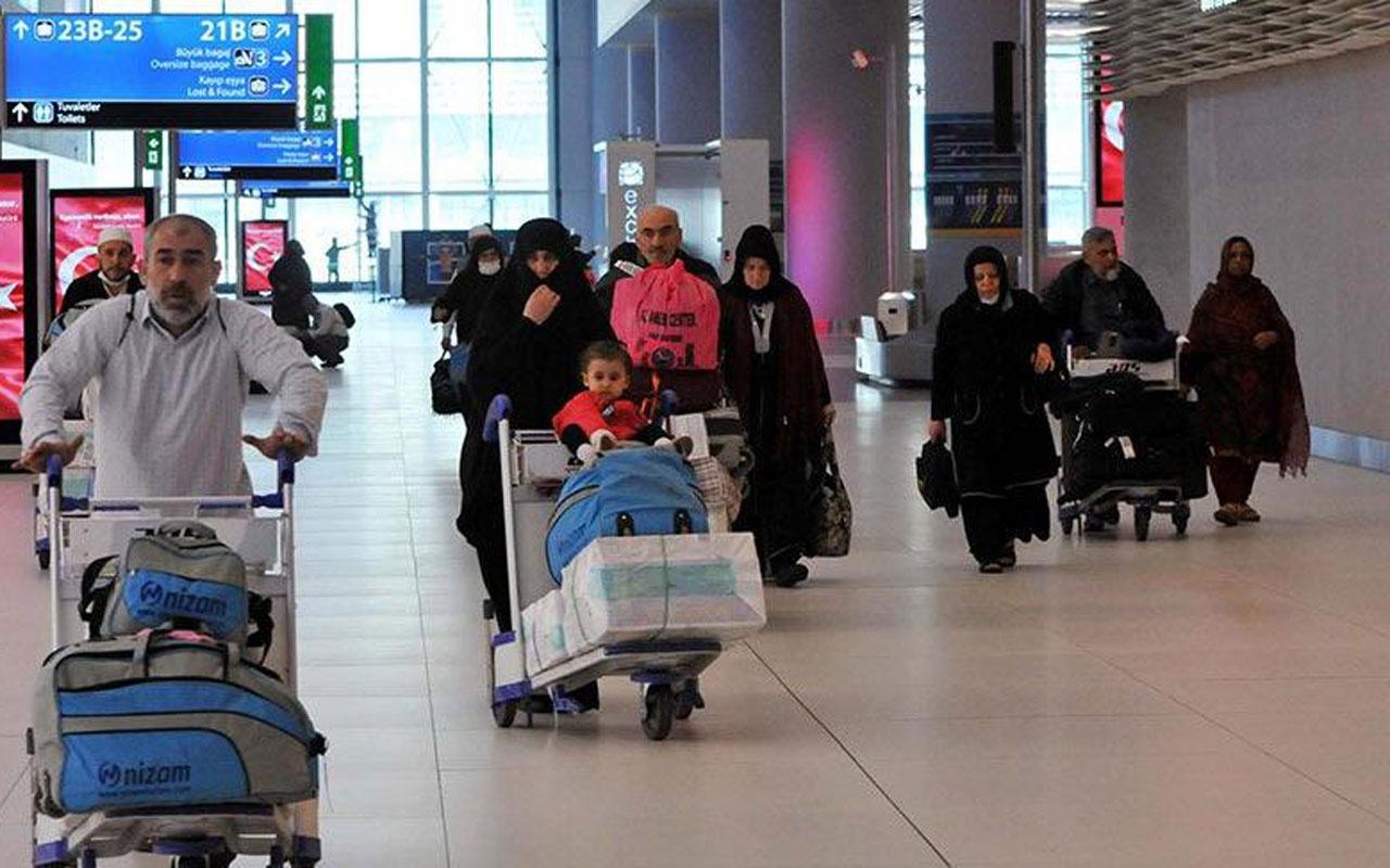 Umre'den gelenlere sağlık taraması yapıldı