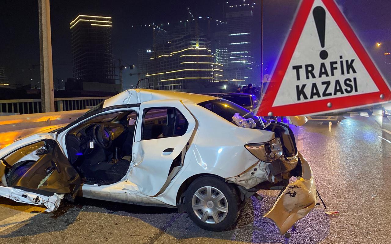 15 Temmuz Şehitler Köprüsü'nde kaza için rapor tutan kişilere bir başka araç çarptı