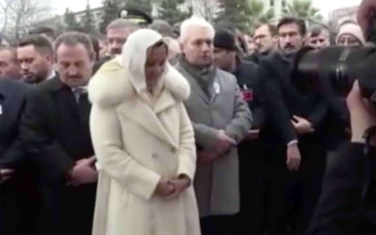 İYİ Partili Aylin Cesur'dan şehit cenazesinde skandal hareketler