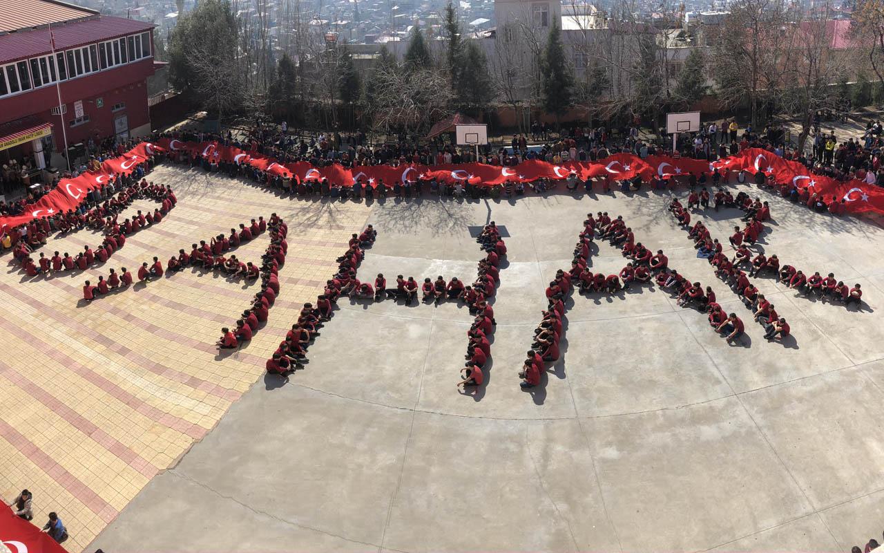 Kahramanmaraş'ta bedenleriyle 'Bahar' yazarak Mehmetçiğe destek verdiler