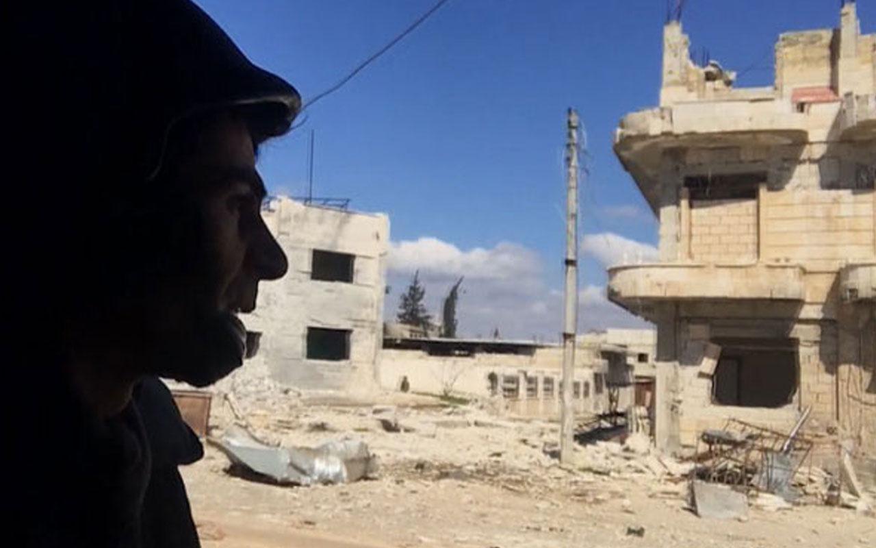 Türk gazetecinin İdlib'de zor anları! Çekim anında bombardıman başladı…