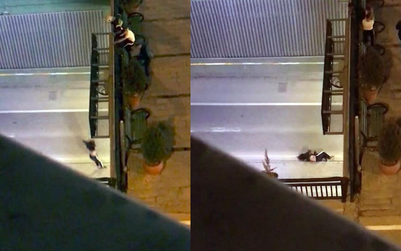 Isparta'da genç kadının intihar anı kameralara böyle yansıdı