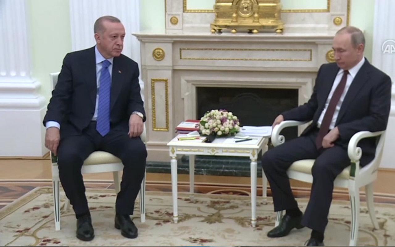 Cumhurbaşkanı Erdoğan Putin ile görüştü! Putin'den 33 şehit sözleri