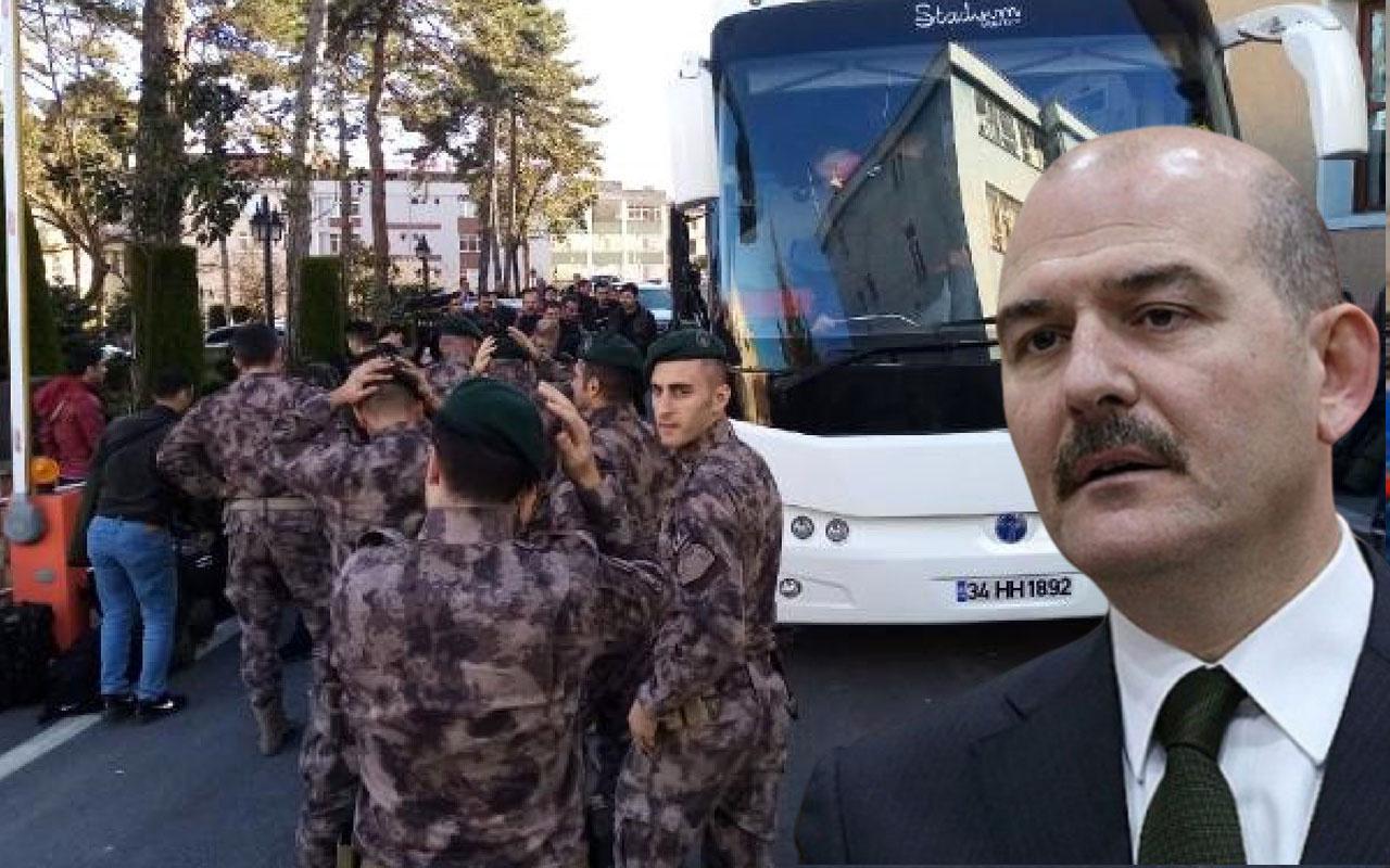 Bakan Süleyman Soylu dün duyurmuştu Özel Harekatçılar hızla yola çıktı