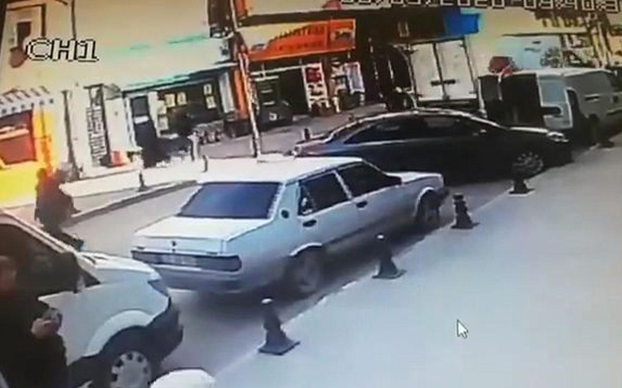Karabük'te vatandaş kamyon altında kalmaktan son anda kurtuldu!