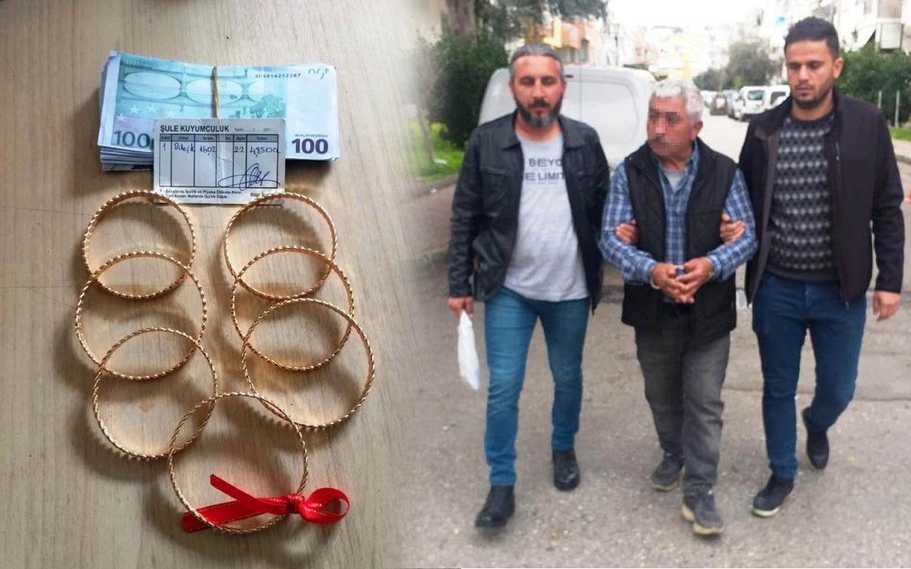 Antalya'da sahte altınları satmaya çalışırken baltayı taşa vurdu