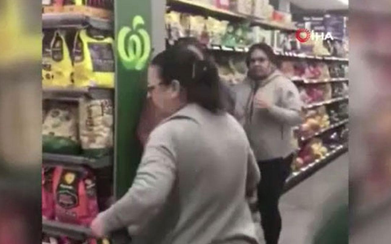 Avustralya'da kadınların tuvalet kağıdı kavgası kamerada