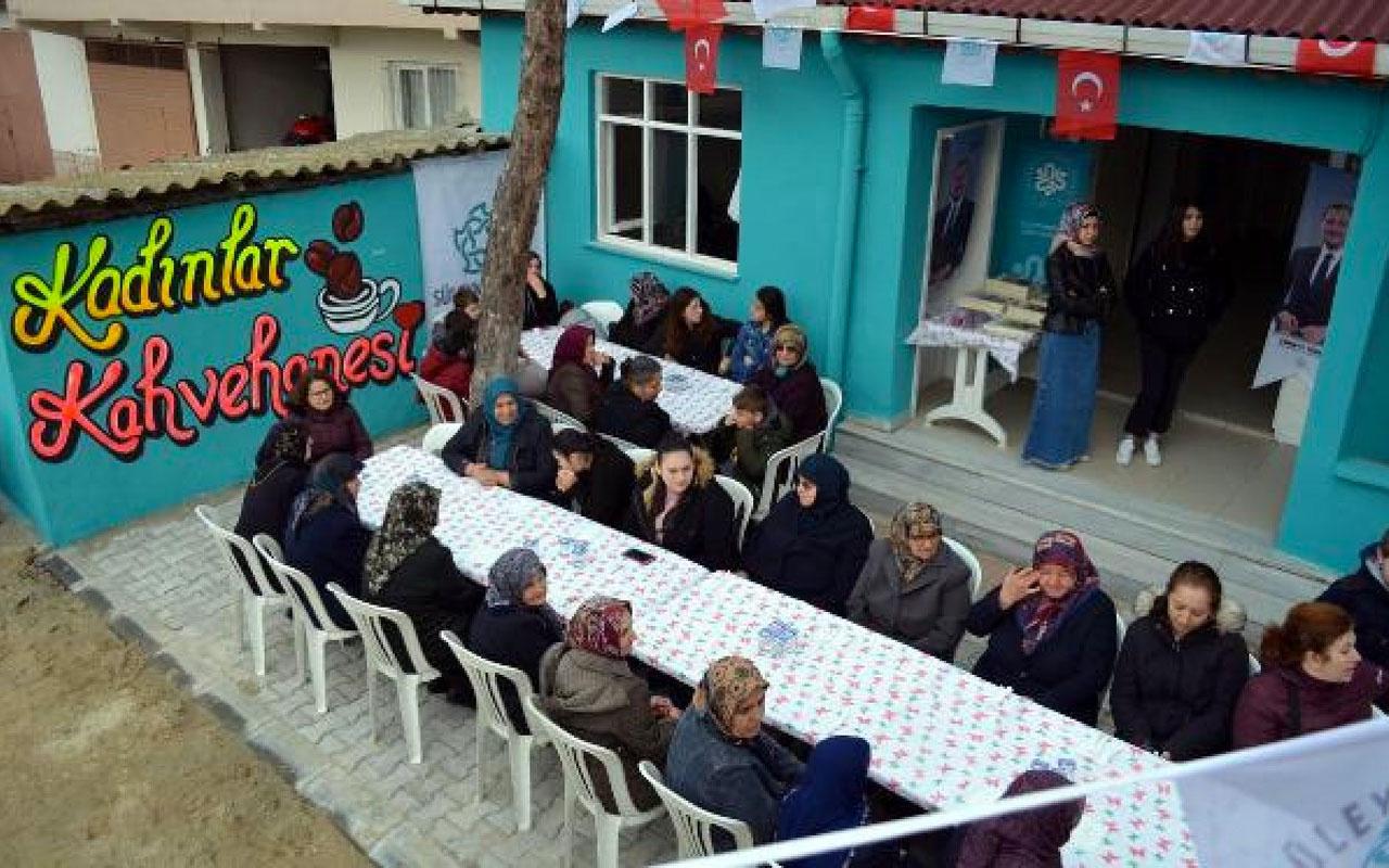Tekirdağ'da kadınlar kahvesi açıldı